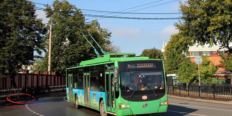 Реклама на трамваях и троллейбусах в Ижевске